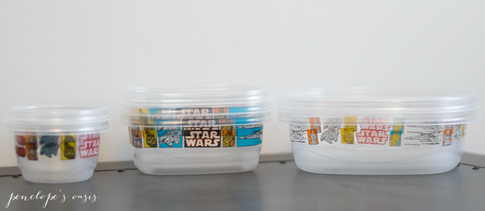 glad bento lunch containers star wars theme
