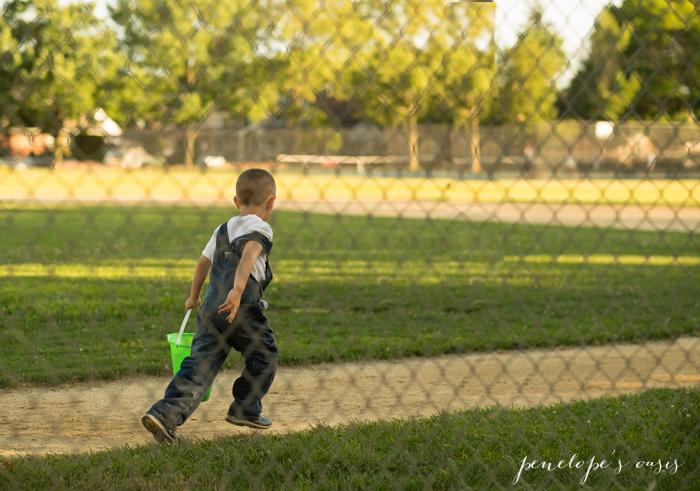 running around baseball diamong