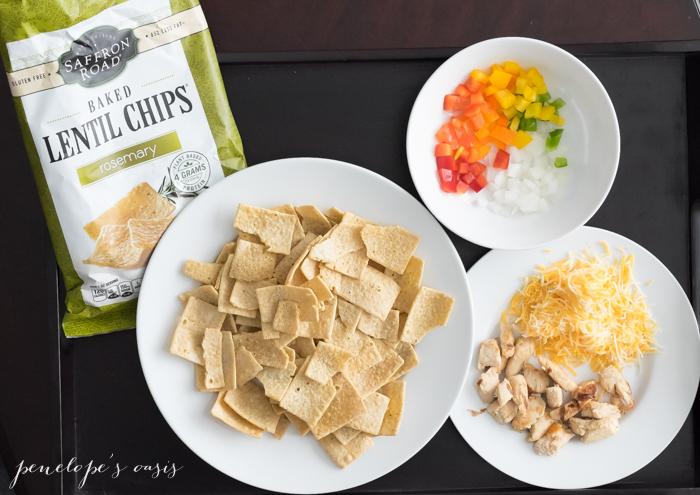 healthy loaded lentil chips