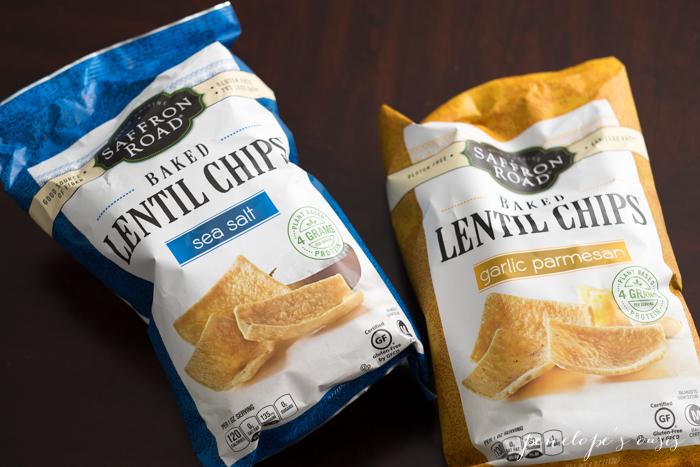 saffron road lentil chips