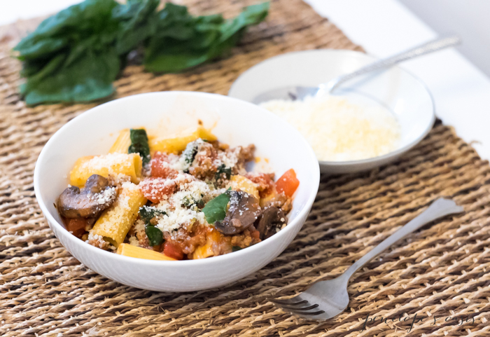 rigatoni-with-mushrooms-and-talian-sausage-recipe