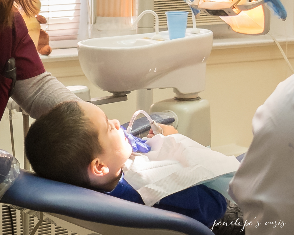 visiting dentist for cavity filling