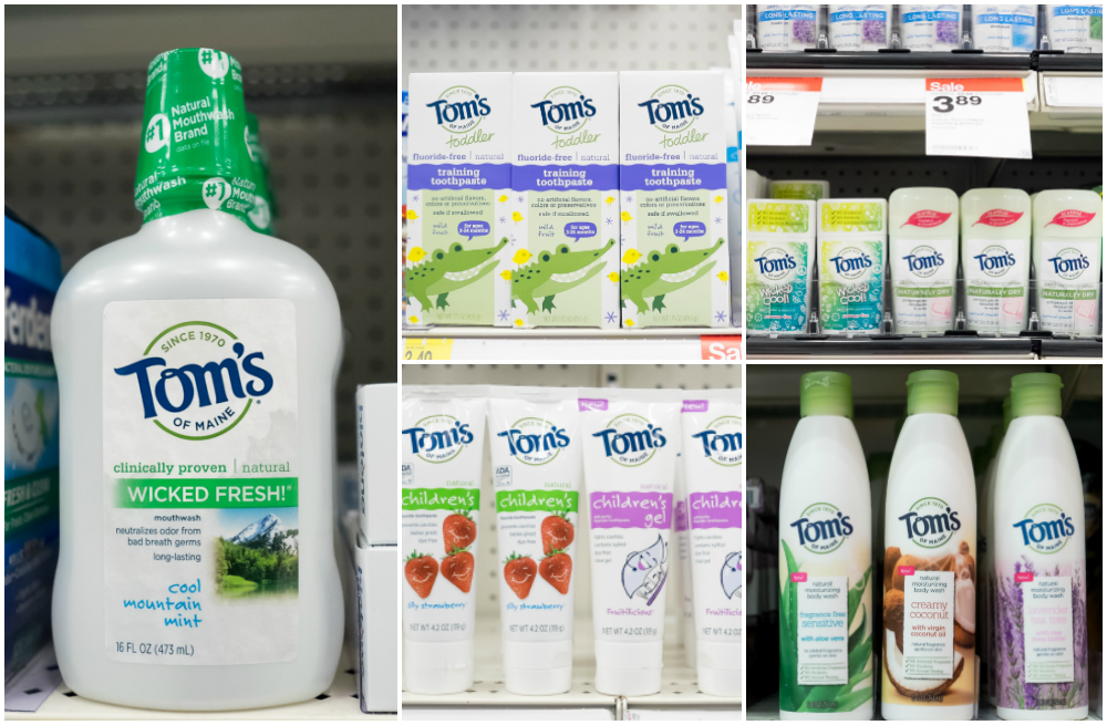 Toms of Maine products