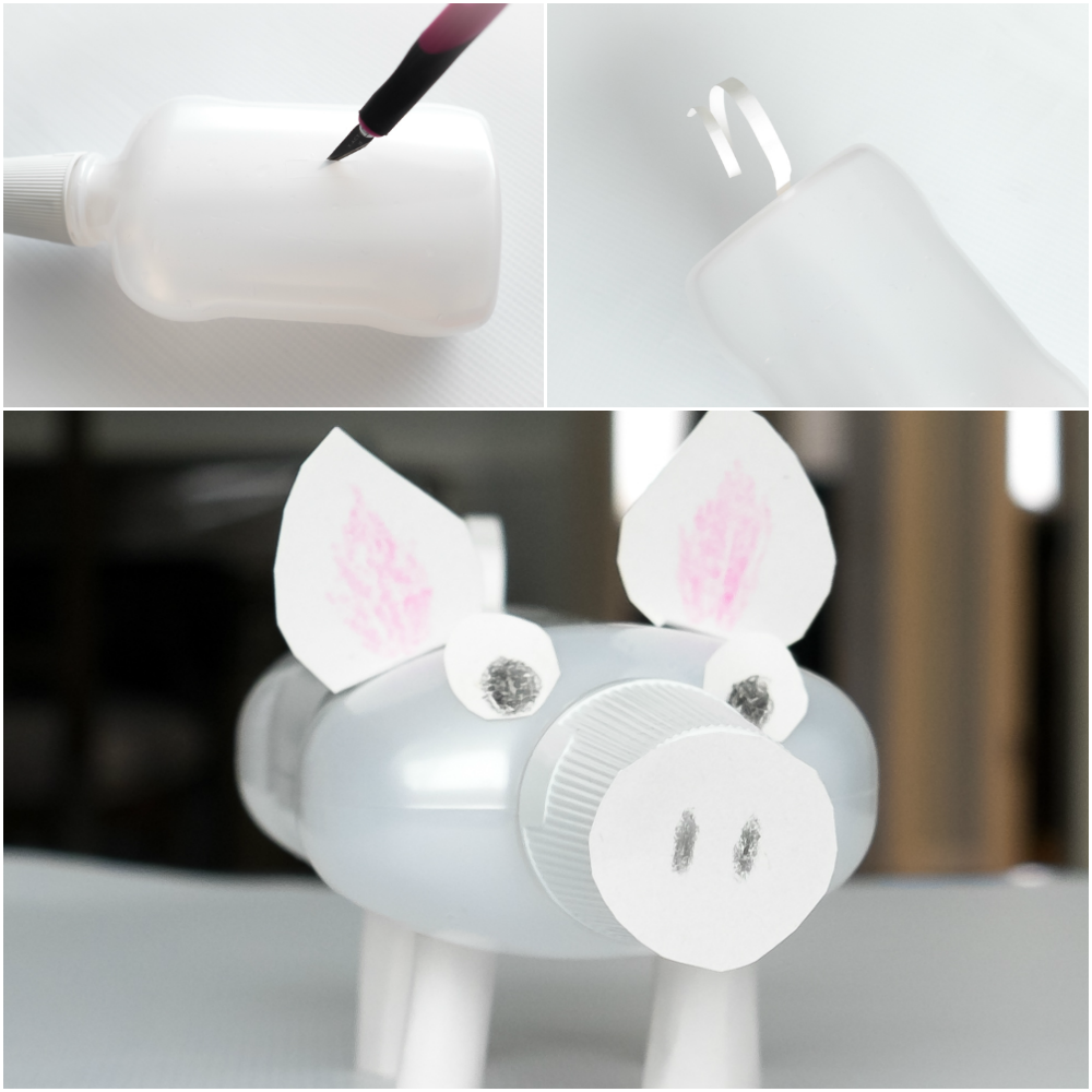 homemade piggy bank diy upcycle craft