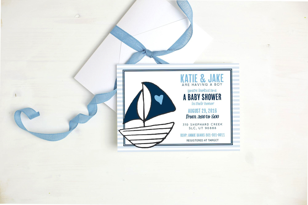 Basic Invite baby shower invitation