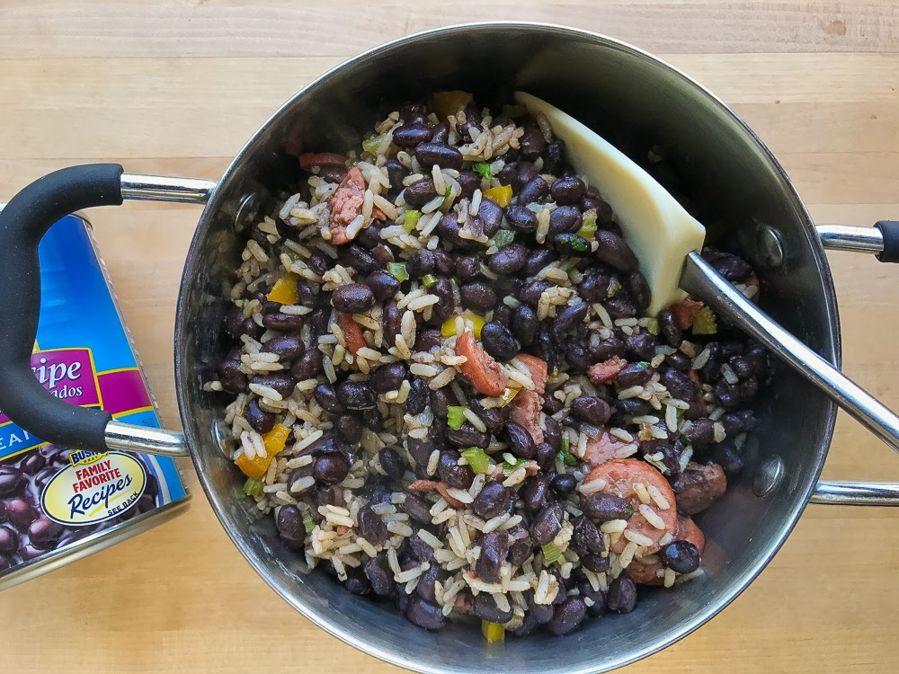 One Pot Dirty Rice and Beans with Smoked Sausage
