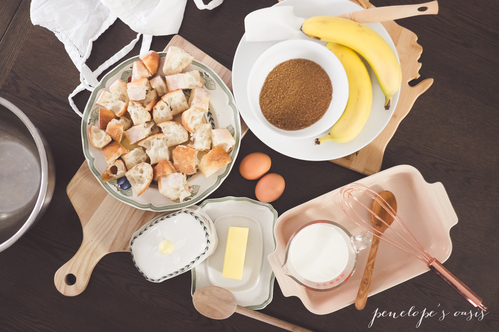banana bread pudding ingredients