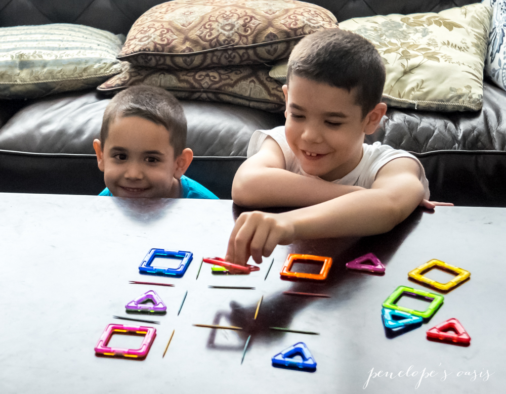 Magformers tic tac toe homemade game