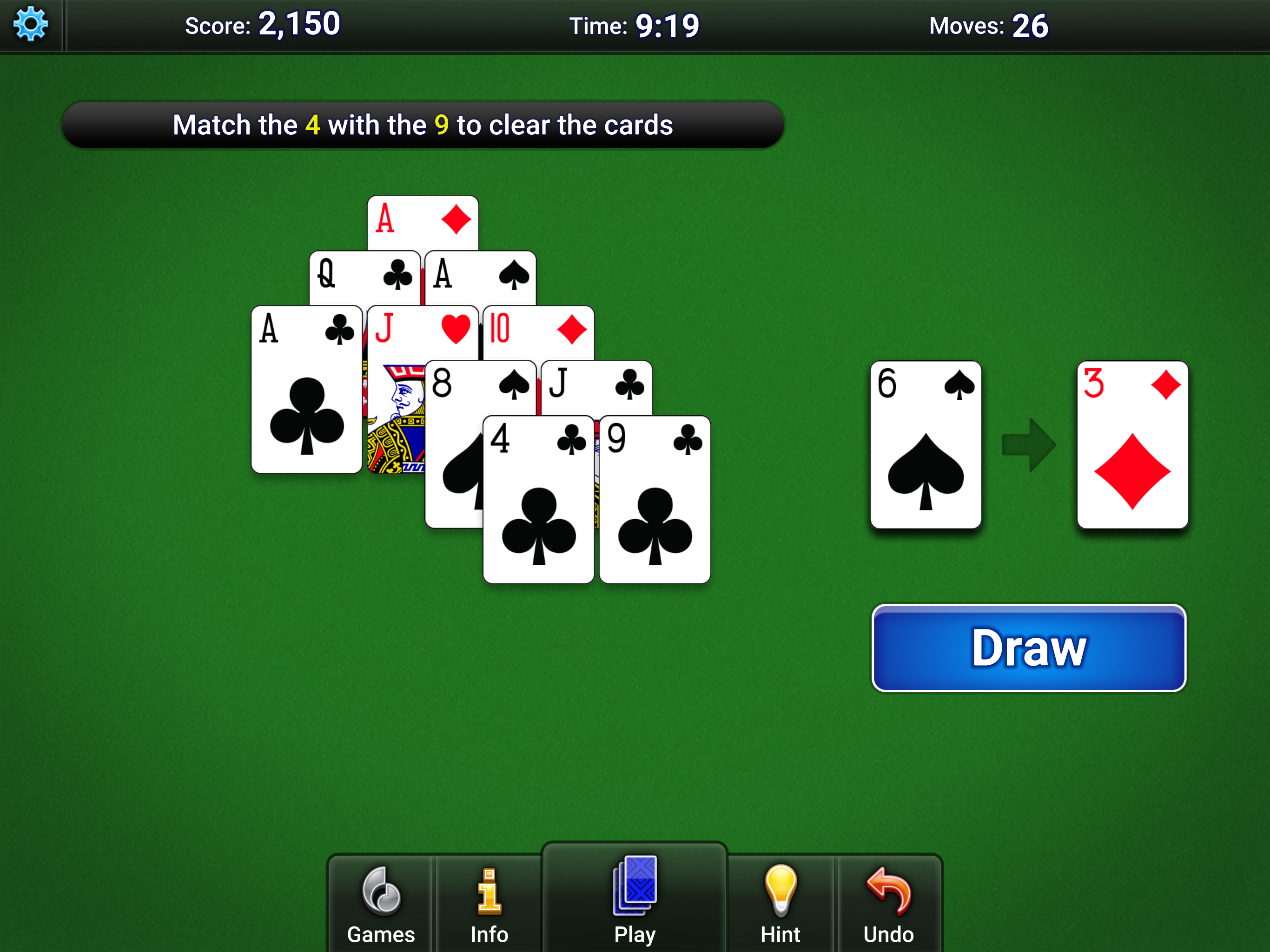 MobilityWare Pyramid Solitaire