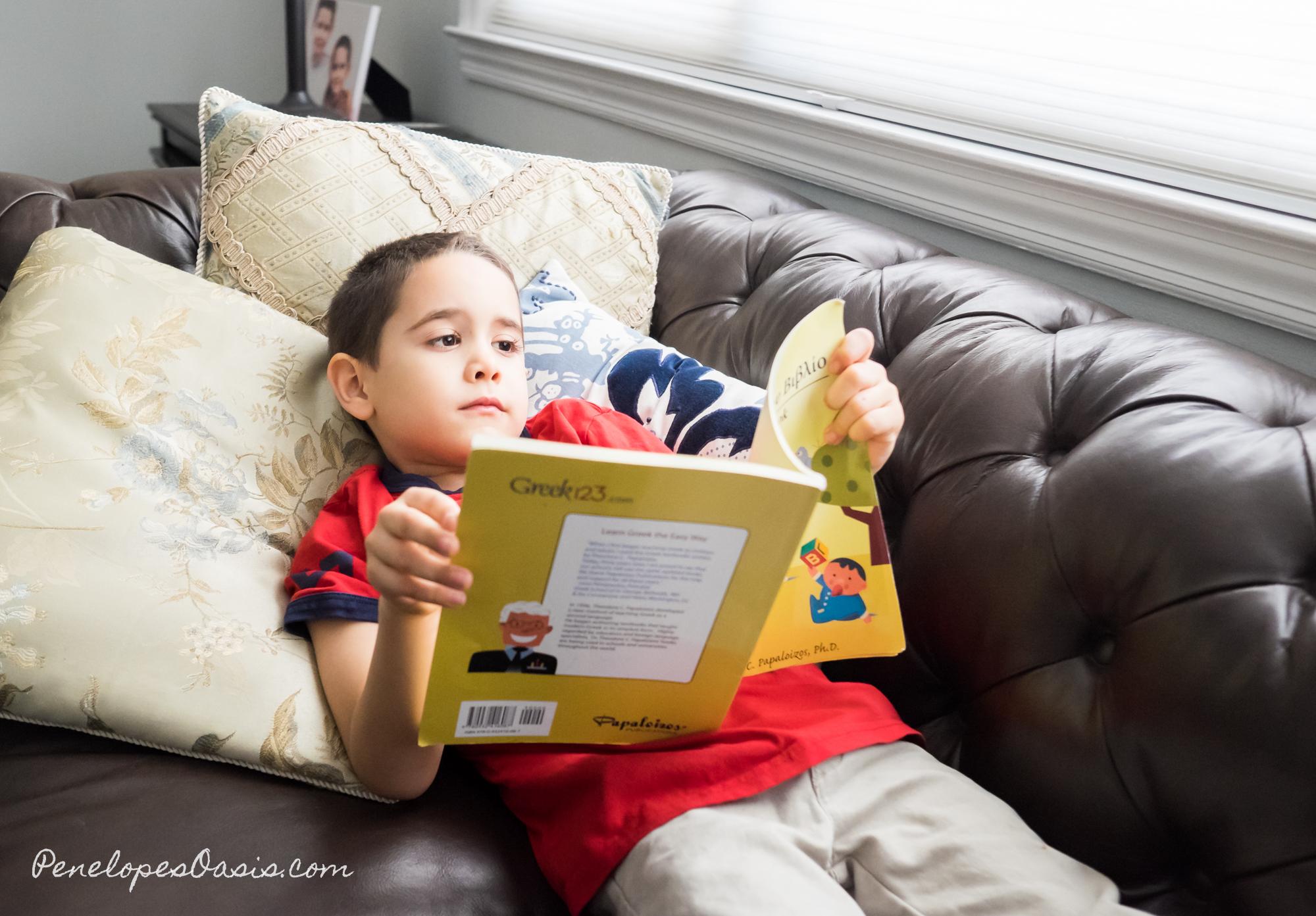 Kids learning Greek