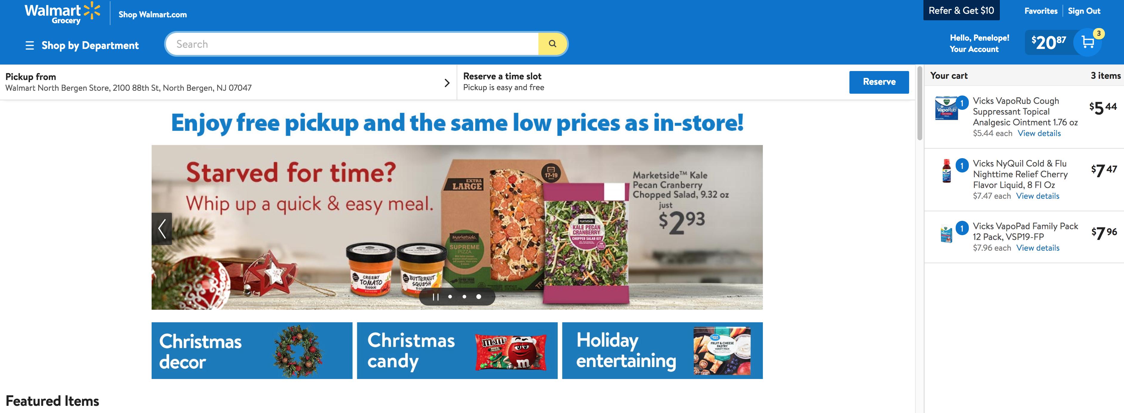 Walmart Frocery Pickup