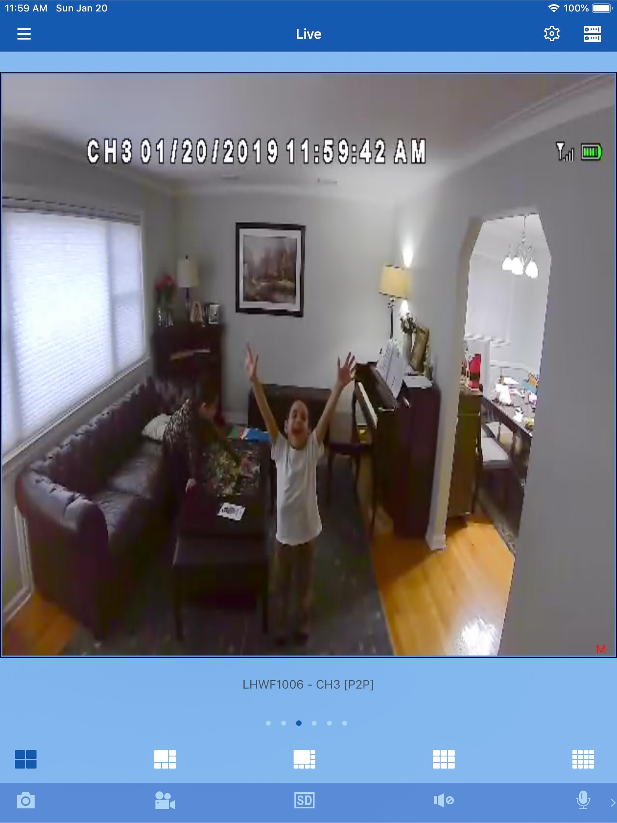 Lorex Camera System indoors